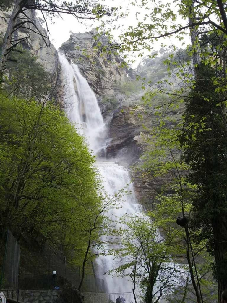 экскурсия водопад учан су из феодосии
